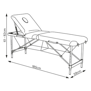 REM Airlight Portable Beauty Bed