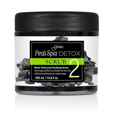 Gena Pedi Spa Detox Charcoal Foot Scrub 118ml