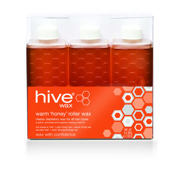 Hive of Beauty Roller Depilatory Wax Refills Warm Pack of Six 80g