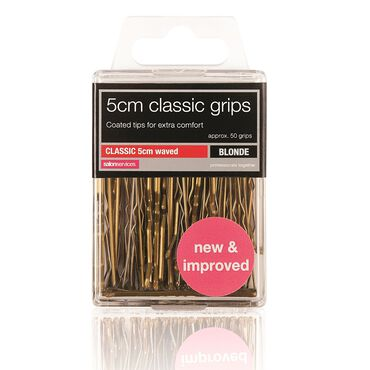 HairTools Two Waved Grips Blonde Pack of 50