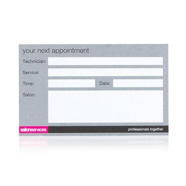 Salon Services Appointment Cards Beauty - Pack of 100