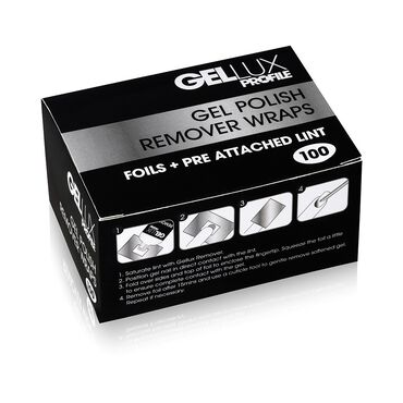 Gellux Gel Polish Remover Wraps Pack of 100
