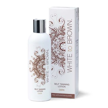 WHITE to BROWN Self Tanning Lotion Dark 250ml