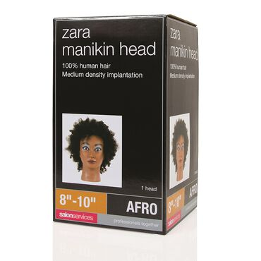 Salon Services Zara Afro Manikin Head 8-10 Inch