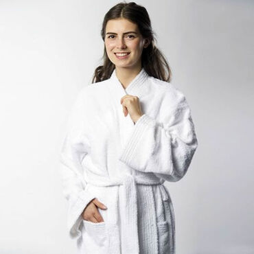 Beauty Express Towelling Robe White