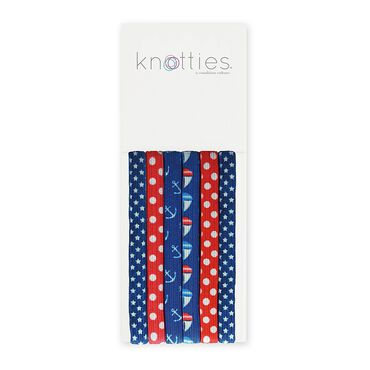Knotties Wide Elastic Hair Ties -- Sail Away 6 Pack