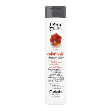 Celeb Luxury Gem Lites Semi Permanent Colourwash Shampoo Red - Fire Opal  244ml