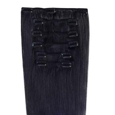 Wildest Dreams Clip In Half Head Human Hair Extension 18 Inch - 1 Blackest Black