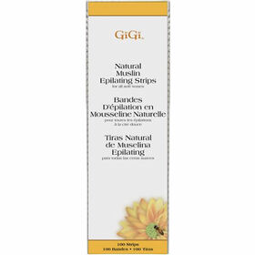 GiGi Natural Muslin Strips pack of 100 Large