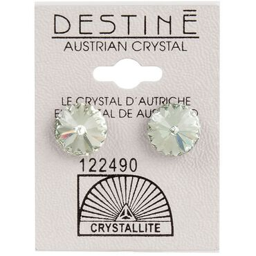 Crystallite Extra-large Green Rivoli Ear Studs 11mm
