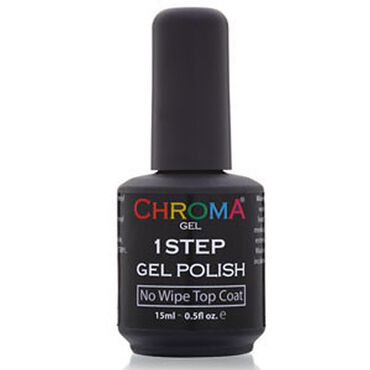 Chroma Gel One Step Gel Polish No Wipe Top Coat 15ml