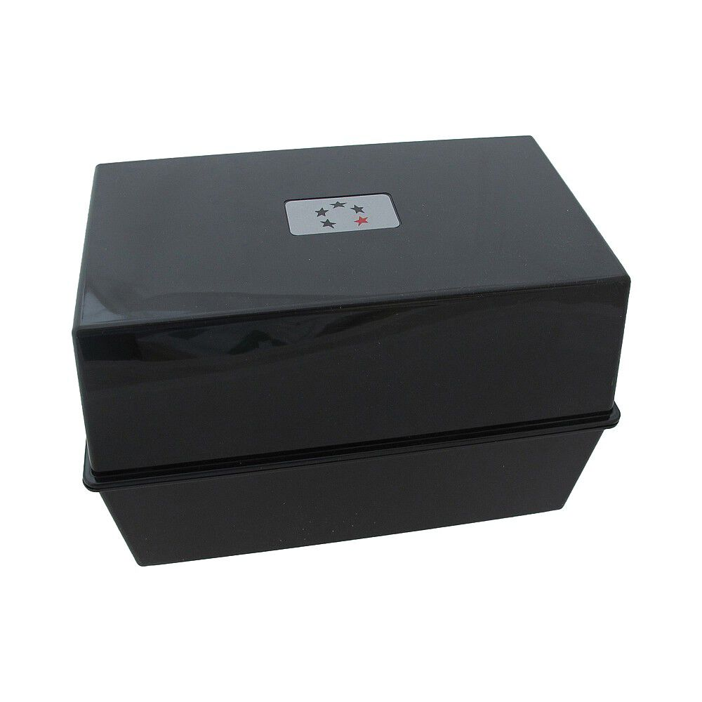 Red Office Index Record Card Box Filing Box With Coloured Guide Record Cards