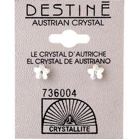 Crystallite Clear Flower Ear Studs 6mm