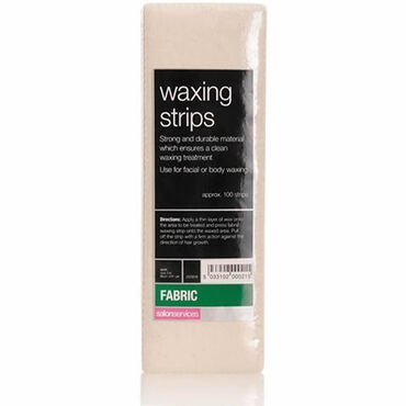 Salon Services Fabric Waxing Strips 100 pack