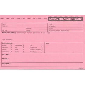 Lash FX Facial Treatment Record Cards Pack of 50