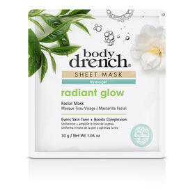 Body Drench Hydrogel Radiant Glow Sheet Facial Mask 30g