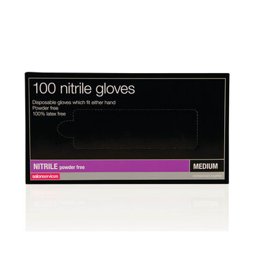 Salon Services Disposable Nitrile Gloves Pack of 100 - Medium