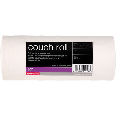 Salon Services Couch Roll White 40m - 10 Inch