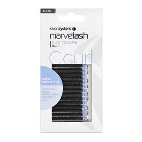 Marvelash C Curl Lashes 0.20 9mm Black