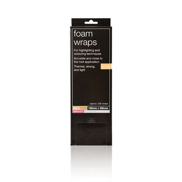 Salon Services Colour Foam Wraps Gold Pack of 200