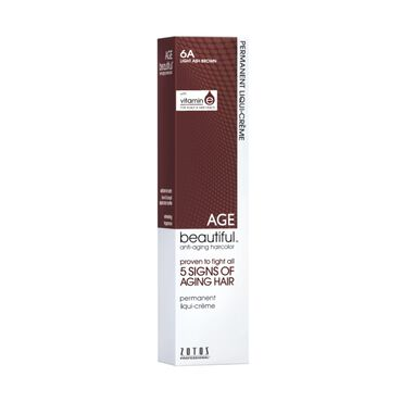 AGEbeautiful Permanent Hair Colour - 6A Light Ash Brown 60ml