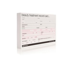 Salon Services Beauty Record Card 100 Pack