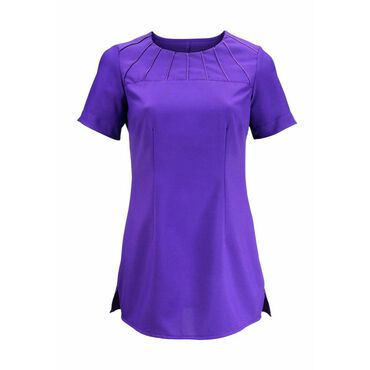 * Alexandra Women's Satin Trim Tunic - Amethyst