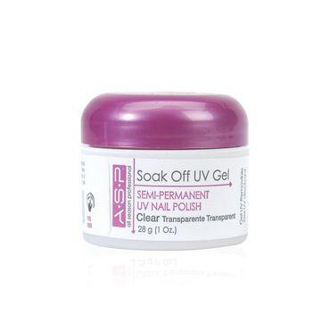 ASP Signature Gel Polish Soak Off UV Gel - Clear 28g