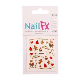 The Edge Nail FX Christmas Foil Nail Stickers - Winter Wonderland