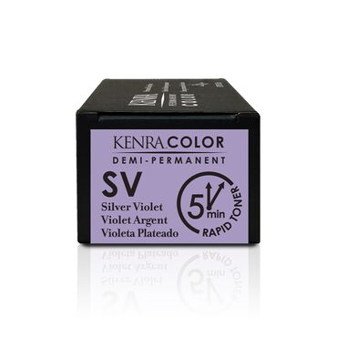 Kenra Professional Metallic Collection Demi-Permanent Hair Colour - Rapid Toner SV Silver Violet 58.2g