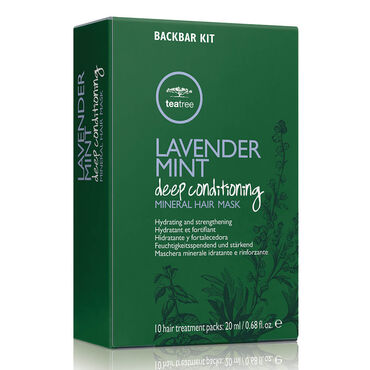 Paul Mitchell Tea Tree LMMB Lavender Mint Deep Conditioning Mineral Hair Mask Back Bar