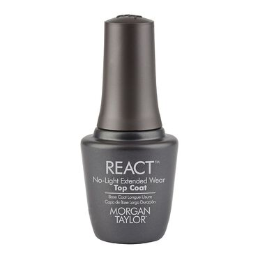 Morgan Taylor React No Light Extended Wear Top Coat 15ml