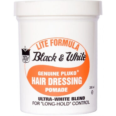 Black & White Lite Formula Hair Dressing Pomade 200ml