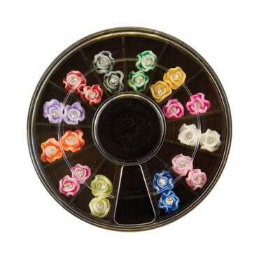 Star Nails 3D Diamante Rose Wheel Pack of 24