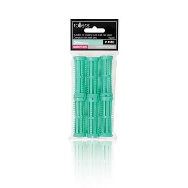 Salon Services Plastic Rollers Green 19mm Pack of 6