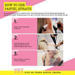 Crazy Color Spray In Pastel hair spray Graphite 250ml