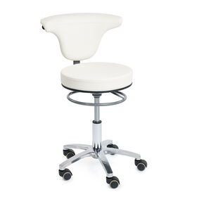 Sibel Swivel Stool White