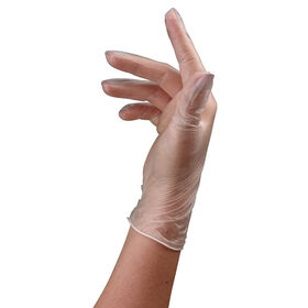 Sibel Clear Vinyl Gloves, Medium, Pack of 100