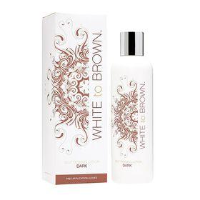 WHITE to BROWN Self Tanning Lotion Dark 250ml