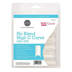 ASP No Blend High C Curve Nail Tips Pack of 100
