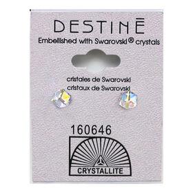 Crystallite Cube Stud Earrings