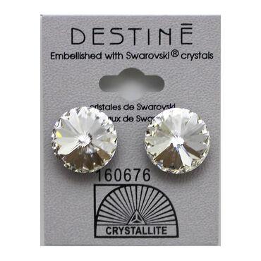 Crystallite Rivoli Large Stud Earrings, 14mm