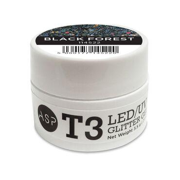 ASP T3 LED UV Glitter Gel - Black Forest 3.5g