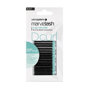 5cdef9190cd Salon System Marvelash D Curl Lashes 0.20 Volume, Assorted Length, Super  Soft Style Black Each   Individual Eyelashes   Salon Services