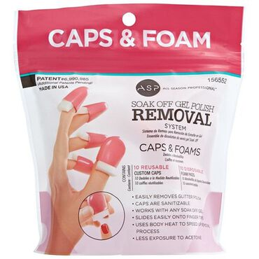 ASP Soak Off Nail Caps & Foams Refill Pack