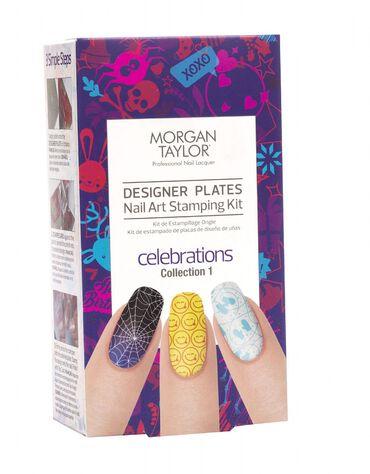 Morgan Taylor Designer Plates Nail Art Stamping Kit - Celebrations Collection