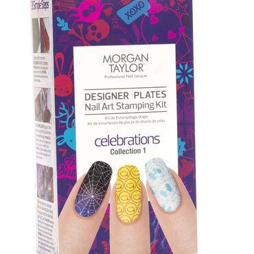Morgan Taylor Designer Plates Nail Art Stamping Kit Celebrations