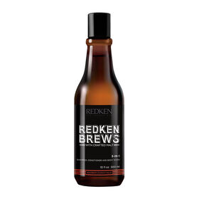 Redken Brews 3in1 Shampoo, Conditioner and Body Wash 300ml