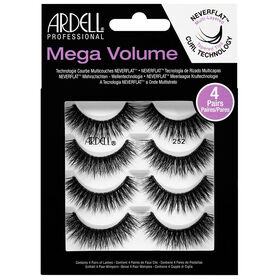 Ardell Mega Volume Strip Lashes 252, Pack of 4