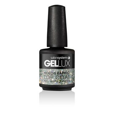 Gellux Holographic No Wipe Top Coat 15ml